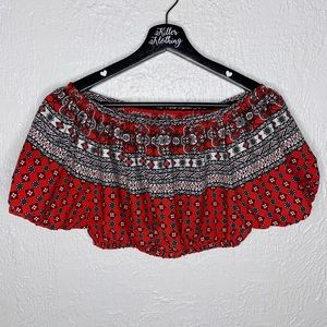 Boohoo Patterned Cropped Tube Top